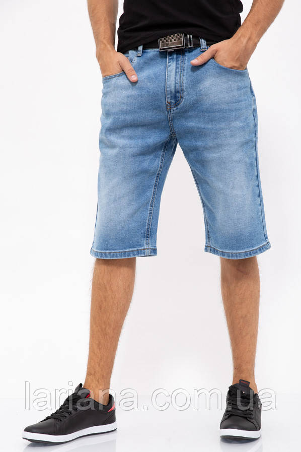 Джинсовые шорты муж 144R906-4A цвет Голубой