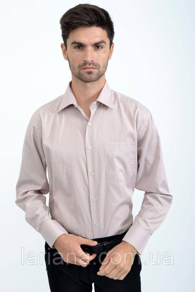 Рубашка 14#LS цвет Розово-серый