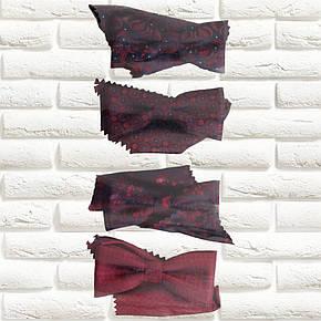 Галстуки-бабочки  для мальчиков Польша бордовые с платком в нагрудный карман, фото 2