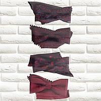 Краватки-метелики для хлопчиків Польща бордові з хусткою в нагрудну  кишеню