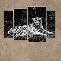 "Модульная картина ""Белый тигр. Полиптих"""