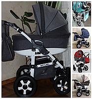 Универсальная коляска для детей 2 в 1 Saturn Лен (Сатурн Лен) Victoria Gold