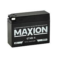 АКБ MOTO GEL MAXION GT 4B-5 (12V, 2,3A) 113x39x87