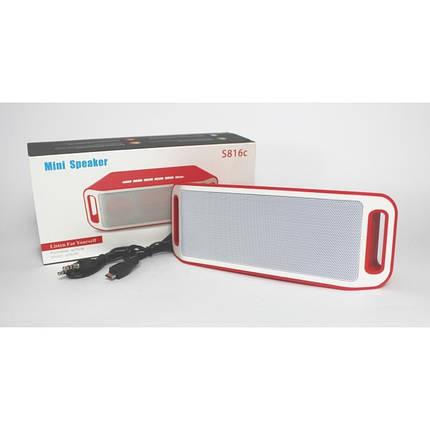 Оригинальная портативная акустическая колонка JBL со встроенным микрофоном USB, SD, FM, Bluetooth S816C, фото 2
