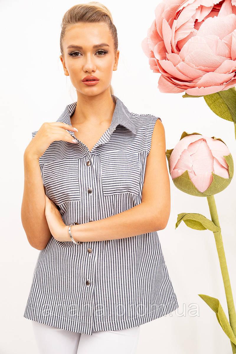 Блуза 102R069-7 цвет Черно-белый