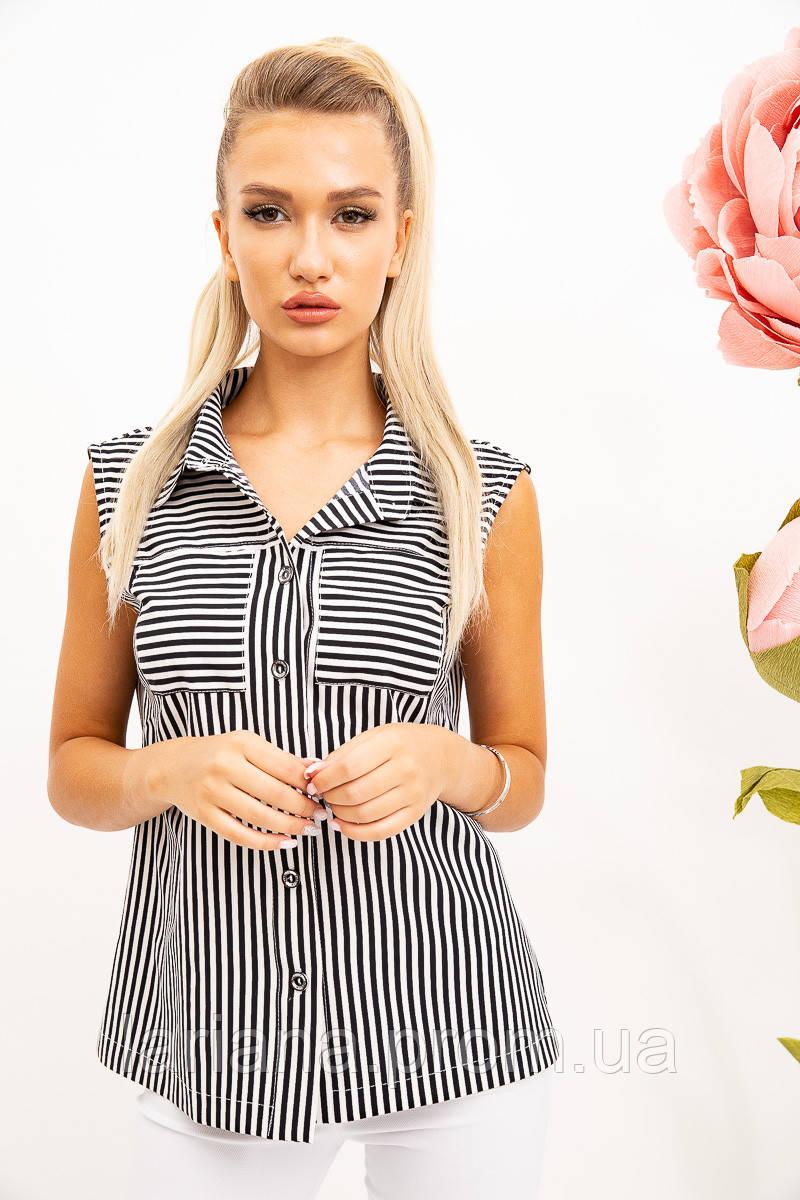 Блуза 102R069-10 цвет Черно-белый