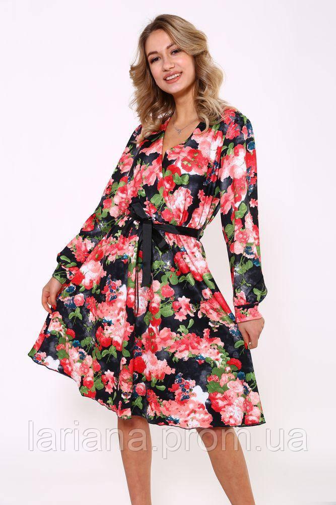Платье 115R395A цвет Черно-красный