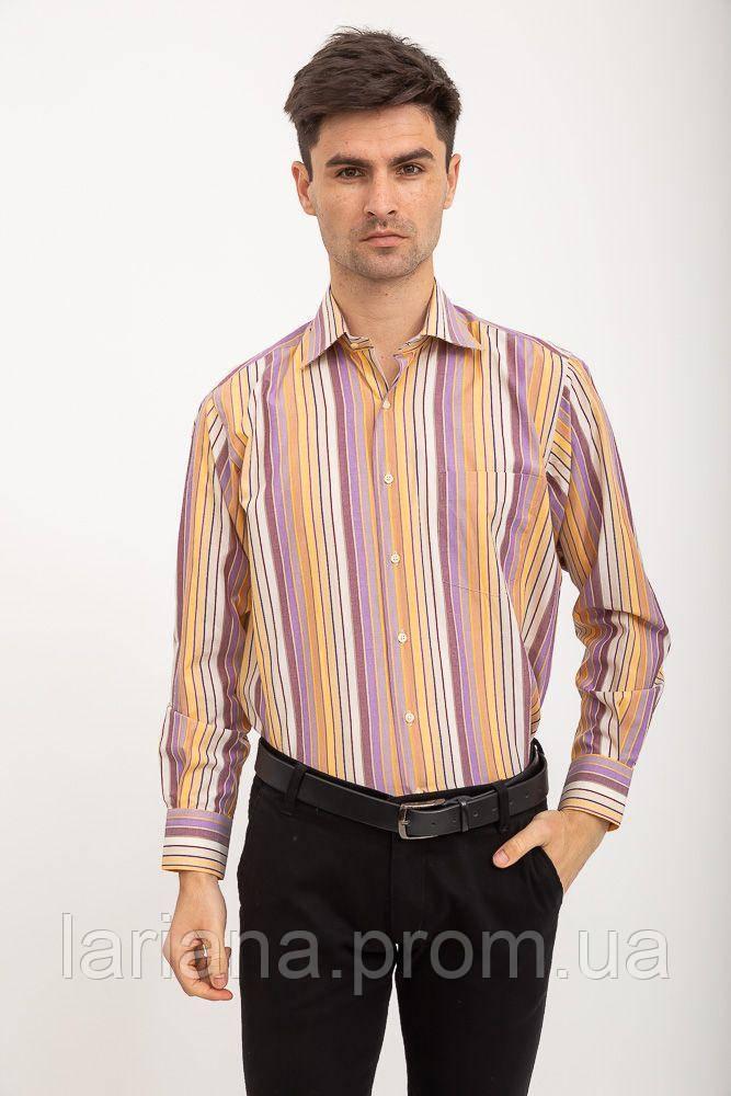 Рубашка 113RPia54 цвет Желто-сиреневый