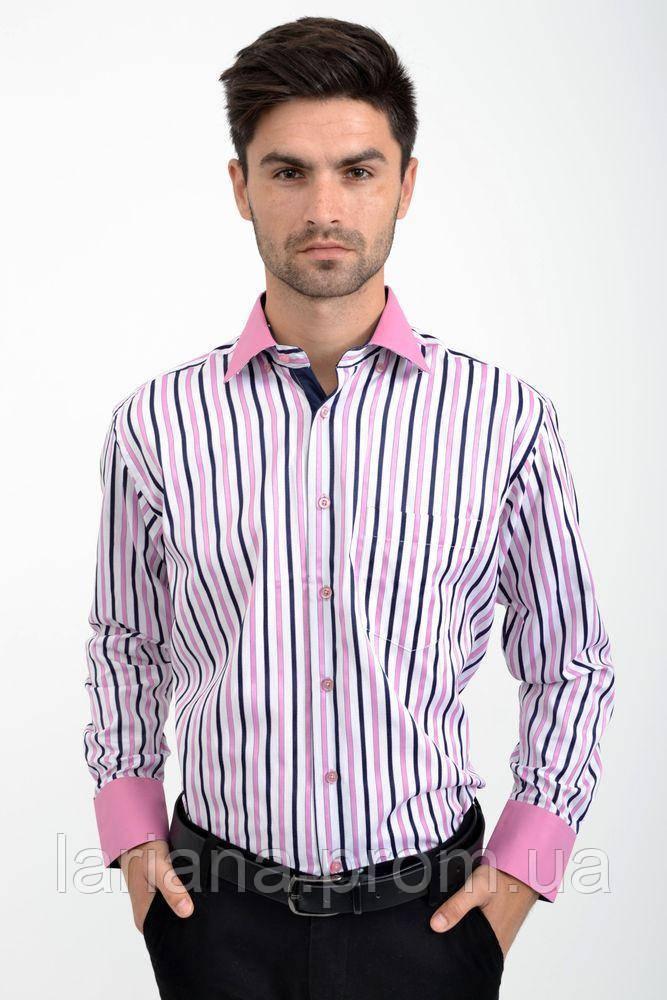 Рубашка 9022-4 цвет Бело-розовый