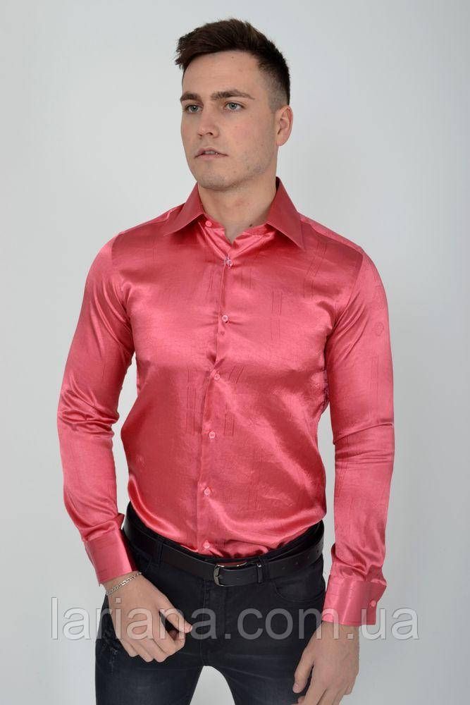 Рубашка 113RPass003 цвет Темно-розовый