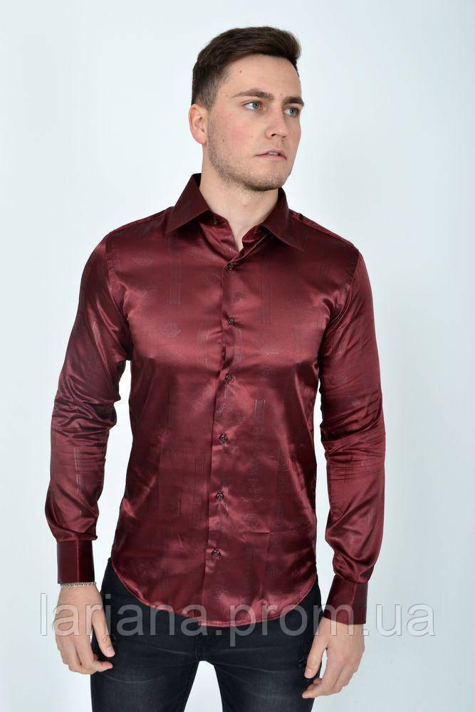 Рубашка 113RPass003 цвет Бордо