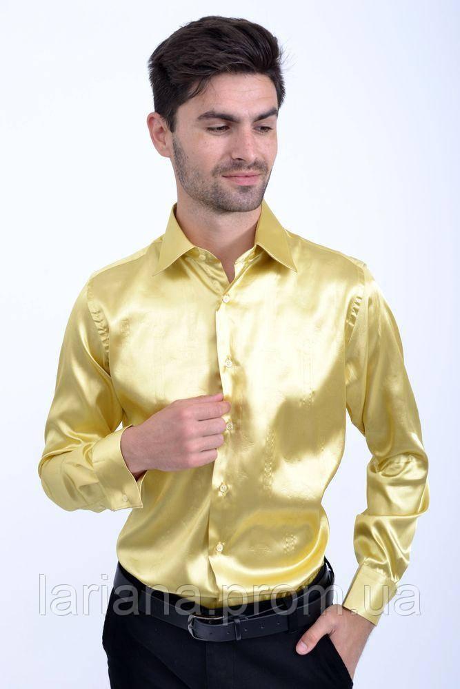 Рубашка 113RPass003 цвет Бледно-желтый