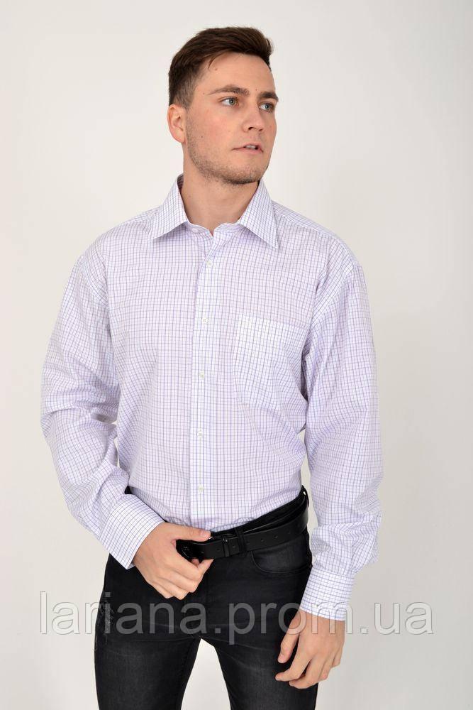 Рубашка 113RPass008 цвет Бело-сиреневый