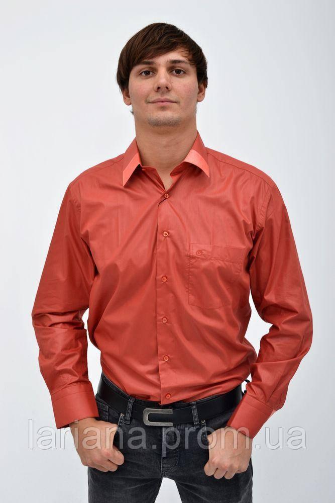 Рубашка 113ROM96 цвет Кирпичный