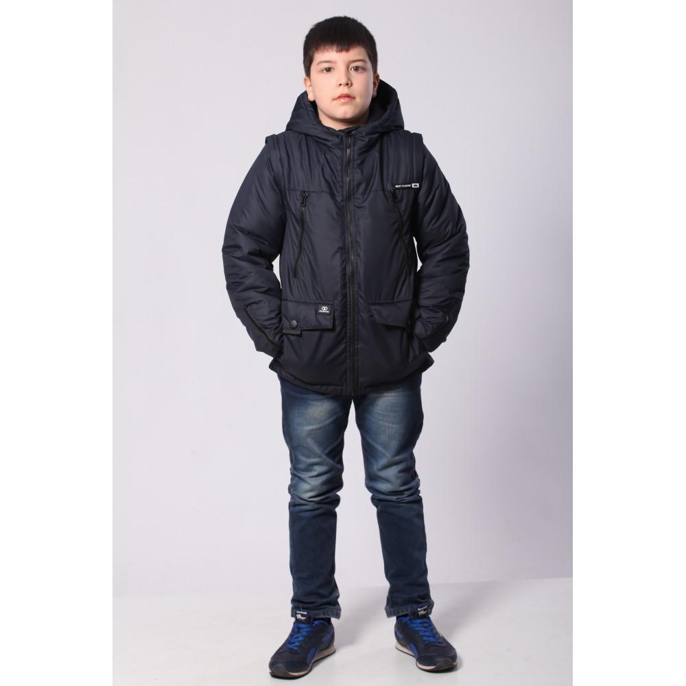 Демисезонная куртка трансформер 36-42 синий