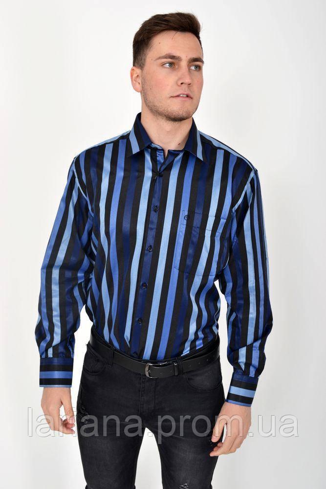Рубашка 113ROM88-2 цвет Черно-синий