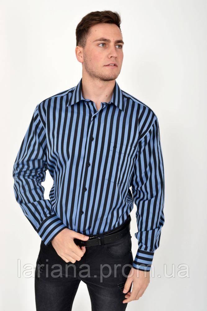 Рубашка 113ROM88-1 цвет Черно-голубой