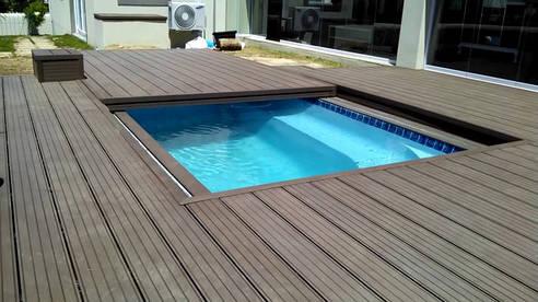 Розсувна тераса для басейнів