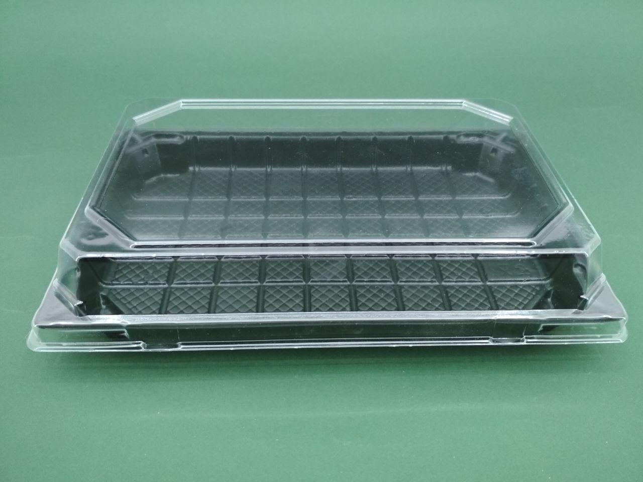 Упаковка для суші з кришкою ПС-64Д 20,5*13,5 см 50 шт/уп.