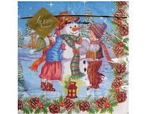 Салфетки для декупажа ЗЗхЗЗ 20шт Снеговик праздничный (1пач)