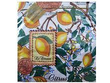 Декоративные столовые салфетки ЗЗхЗ3 Luxy  Лимоны уп/20штук