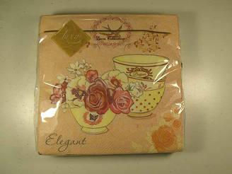 Салфетка декор  (ЗЗхЗЗ, 20шт) Luxy  Время для чая 112 (1 пач)