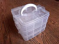 Органайзер трехуровневый с ячейками 18 ячеек 4,5 х 6,5 х 3,5 см; высота 12 см, ширина 12,5 см; длина 19 см