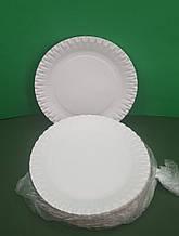 Одноразовые тарелки бумажные   диаметр 170мм (100 шт)