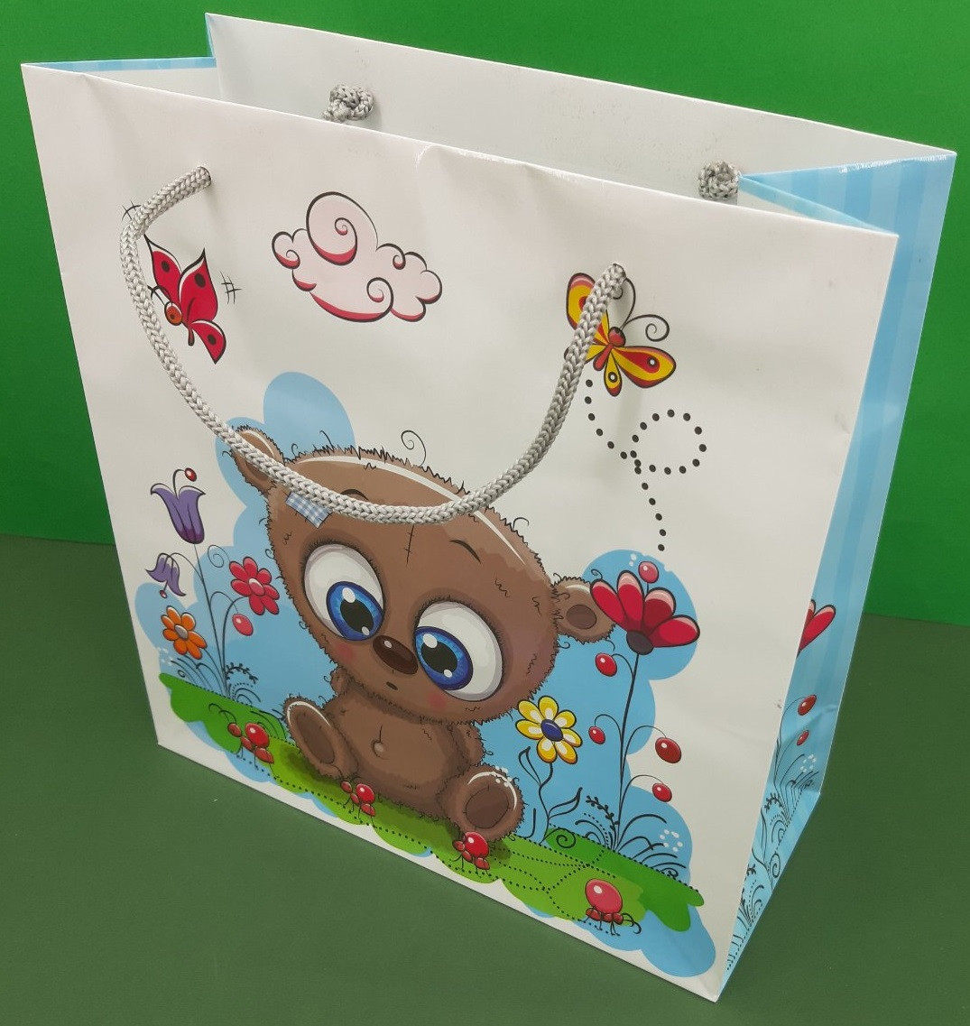 Пакет бумажный подарочный квадратный ы 23*24*10(артKV-147) (12 шт)