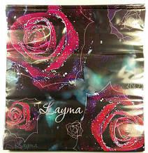 """Пакет Подарочный с пластиковой ручкой """"Роза в росе"""" (10 шт)"""