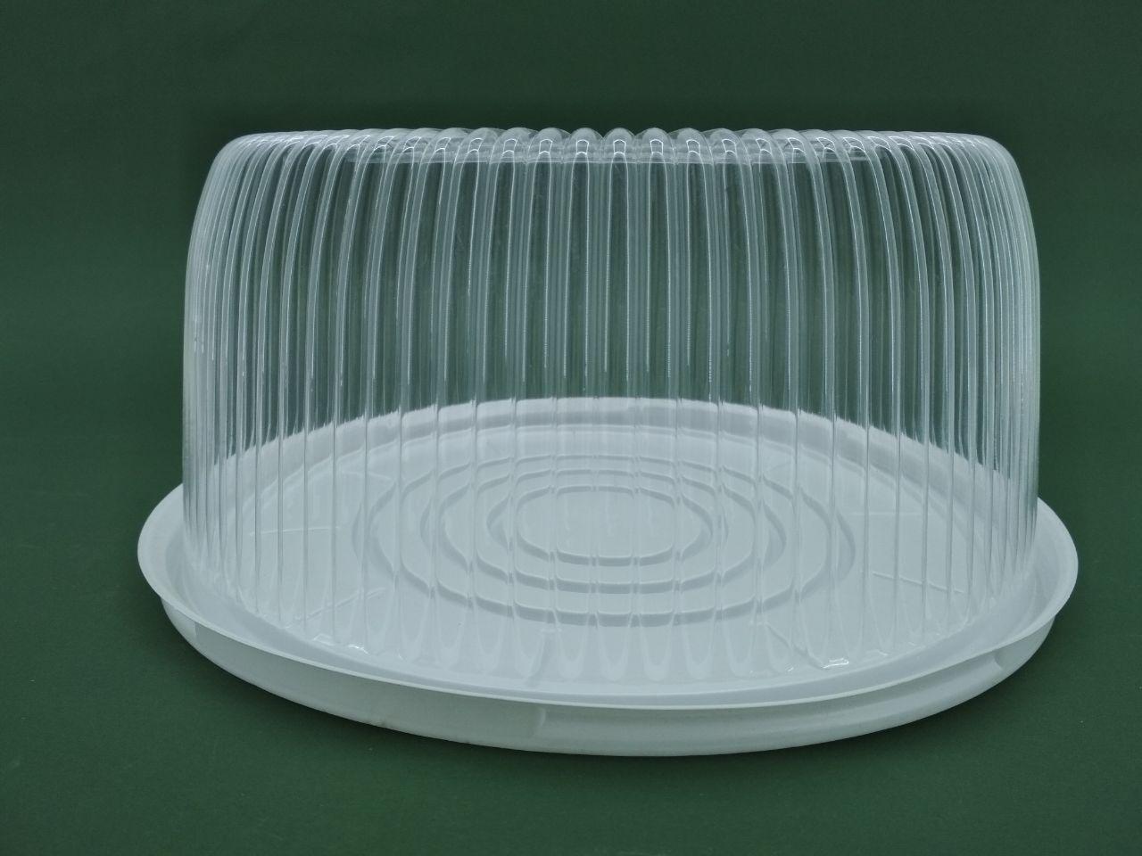 Упаковка для тортів ПС-241 (V3000мл)Ф260*85 (50 шт)