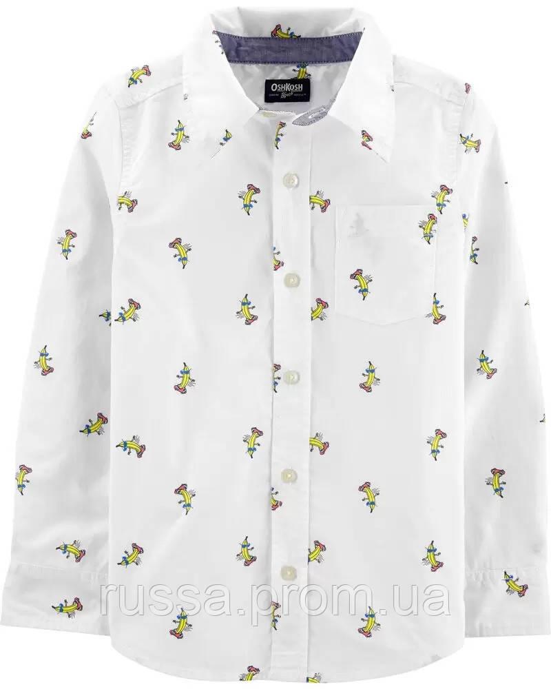 Поплиновая детская рубашка с бананами ОшКош для мальчика