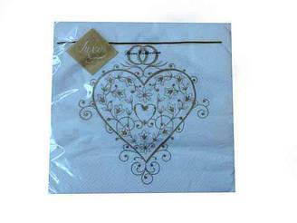 Салфетка (ЗЗхЗЗ, 20шт) Luxy  Волшебное сердце (802) (1 пач)