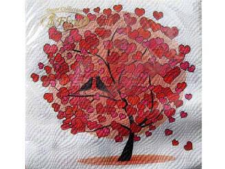 Серветка (ЗЗхЗЗ, 20шт) La Fleur Любовне дерево (057) (1 пач.)