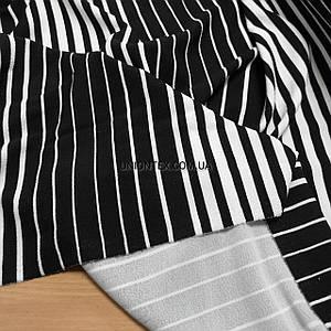 Креп трикотаж в черно-белую полоску РАСПРОДАЖА