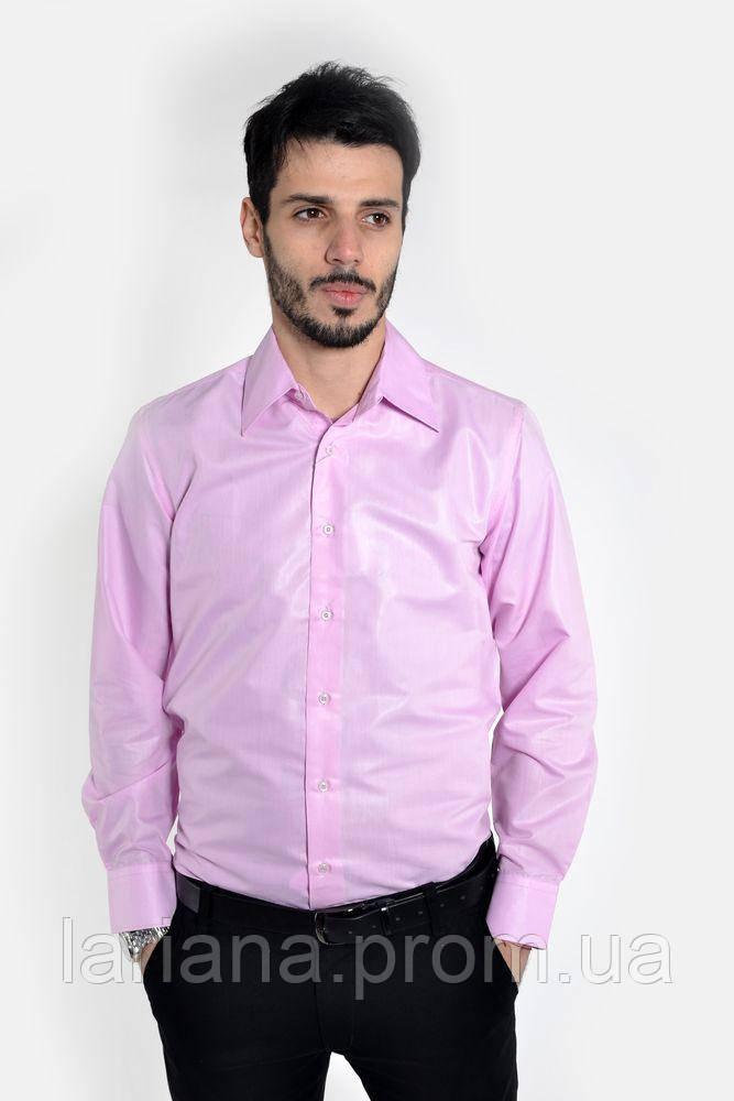 Рубашка мужская 103RMB046 цвет Розовый