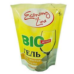 Засіб для посуду Economy Line Гель 450г (лимон)