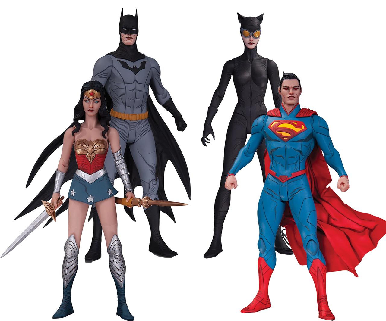 Набор фигурок DC Comics, Лига Справедливости, 17 см - Justice League, Designer Series By Jae Lee
