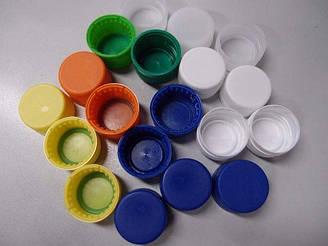 Кришка пластикова на пляшку ПЭТмалая 1с кольорова (1000 шт)