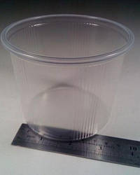 Ємність поліпропіленова кругла(для рідкого і гарячого) ЕМ-110083 -500мл (50 шт)