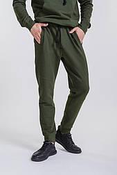 Мужские спортивные штаны с манжетами (Хаки)