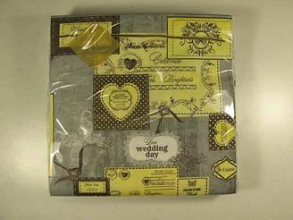 Салфетка бумажная декоративная 3-х слойная (ЗЗхЗЗ, 20шт) Luxy  Почта для тебя