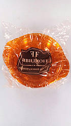 Миска одноразовая 500мл Стекловидная Юнита оранжевая 10 шт