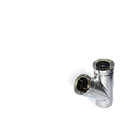 Тройник угол 45 н/оц, толщиной 0,5 мм, диаметр 110мм