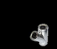 Тройник угол 45 н/оц, толщиной 0,5 мм, диаметр 120мм