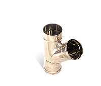 Тройник угол 45, нержавейка, толщиной 0,5 мм, диаметр 160мм