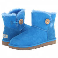 Угги женские UGG Mini Bailey Button Light Blue (реплика)