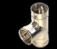 Трійник кут 87, неіржавіюча сталь, товщиною 1 мм, діаметр 300мм