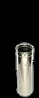 Труба, нержавейка, 0,5 м, толщиной 0,5 мм, диаметр 110мм