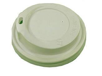 Кришка на стакан паперовий Ф75 (гар )біла Харків 185мл (100 шт)